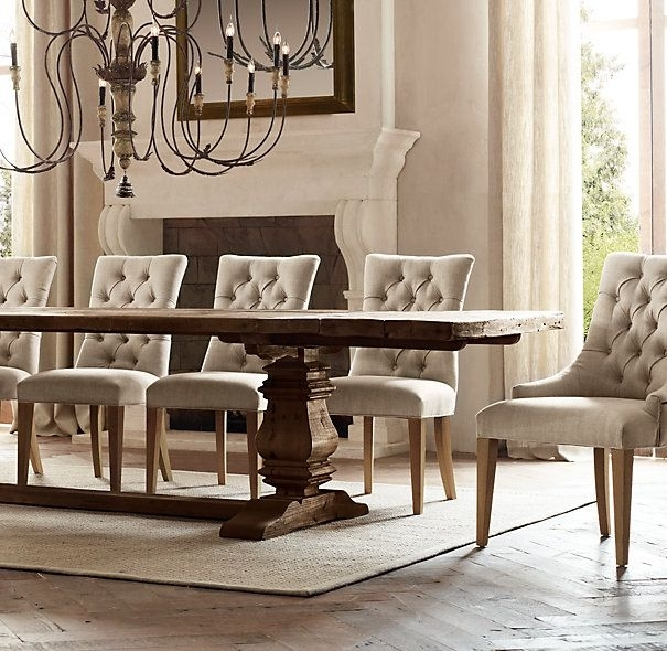 Trestle Salvaged Wood Extension Dining Tables | Rectangular Dining Inside Candice Ii 6 Piece Extension Rectangle Dining Sets (Image 22 of 25)