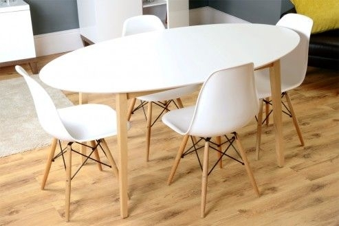 Tretton Retro White High Gloss Oval Dining Table | Home | Pinterest With White High Gloss Oval Dining Tables (View 22 of 25)