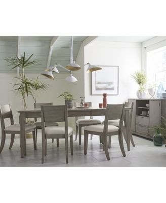 Tribeca Grey Expandable Dining Furniture, 9 Pc (Image 25 of 25)