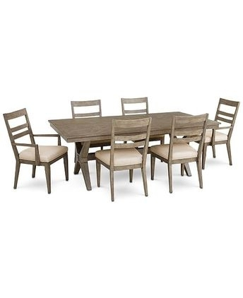 Tribeca Round Dining Table And 4 Side Chairs – Gray Intended For Gavin 7 Piece Dining Sets With Clint Side Chairs (View 8 of 25)