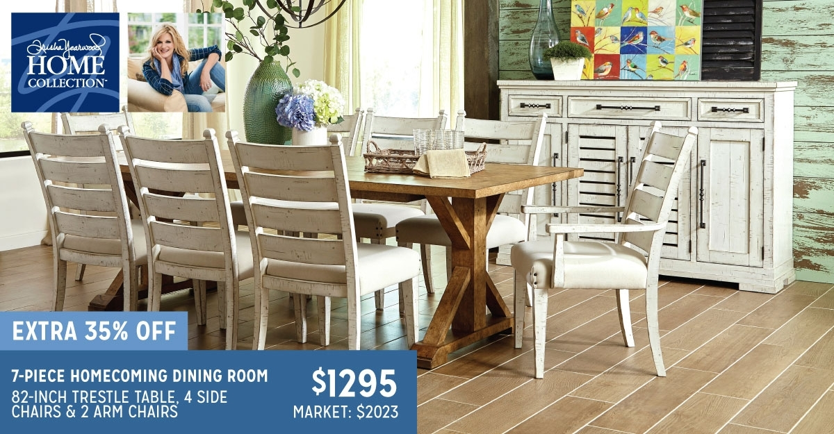 Trisha Yearwood 7 Piece Homecoming Dining Set | Haynes Furniture For Market 7 Piece Dining Sets With Side Chairs (View 5 of 25)