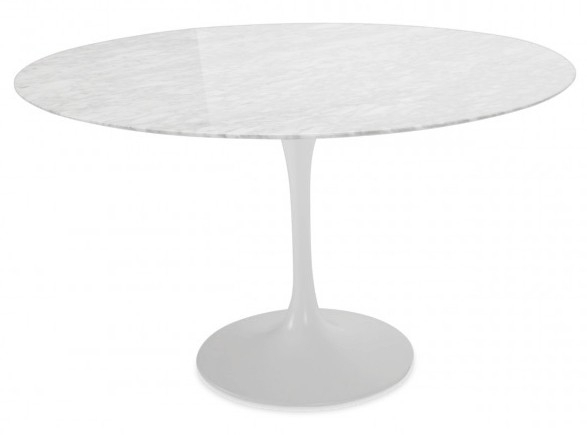 Tulip Round Marble Table Pertaining To Helms Round Dining Tables (View 11 of 25)