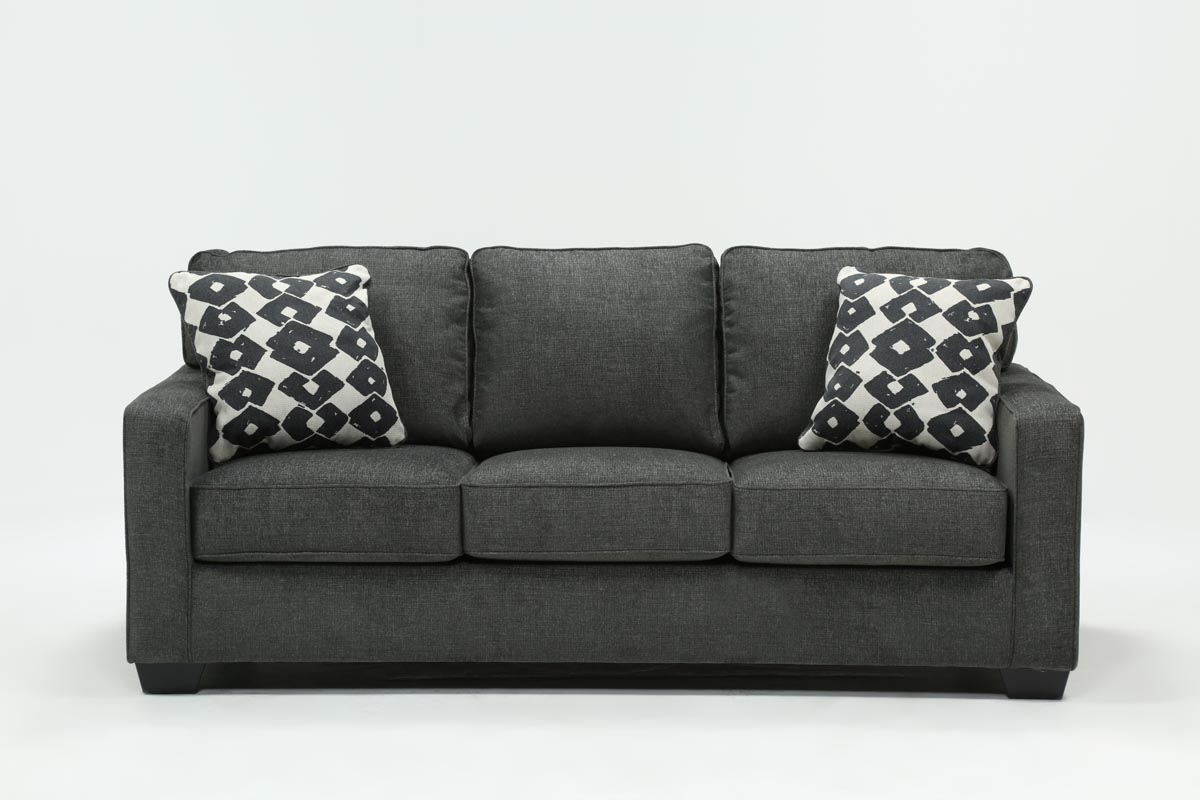Turdur Queen Sofa Sleeper | Living Spaces Regarding Mcdade Graphite 2 Piece Sectionals With Laf Chaise (View 3 of 25)