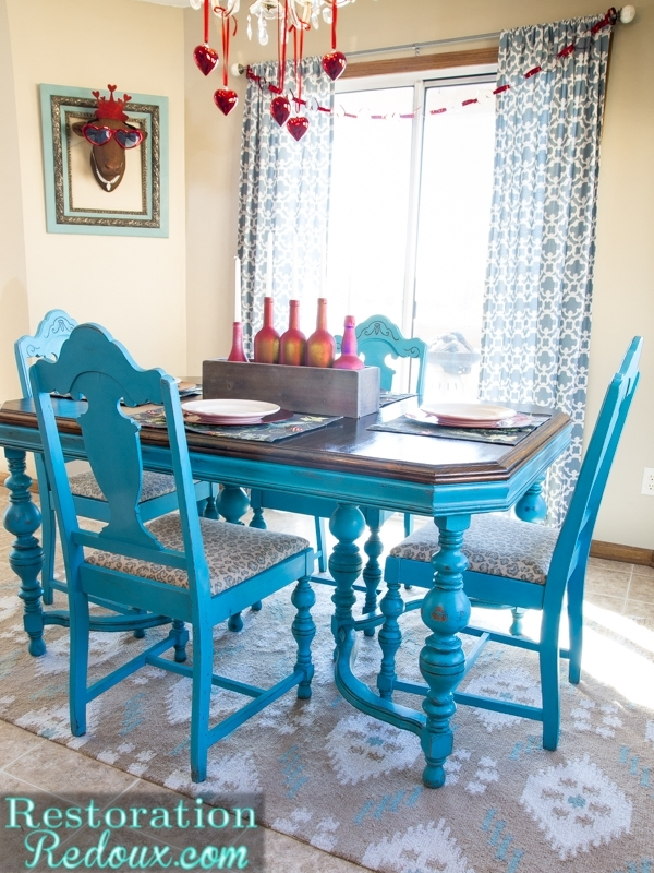 Turquoise Dining Table – Daily Dose Of Style Pertaining To Blue Dining Tables (Image 21 of 25)