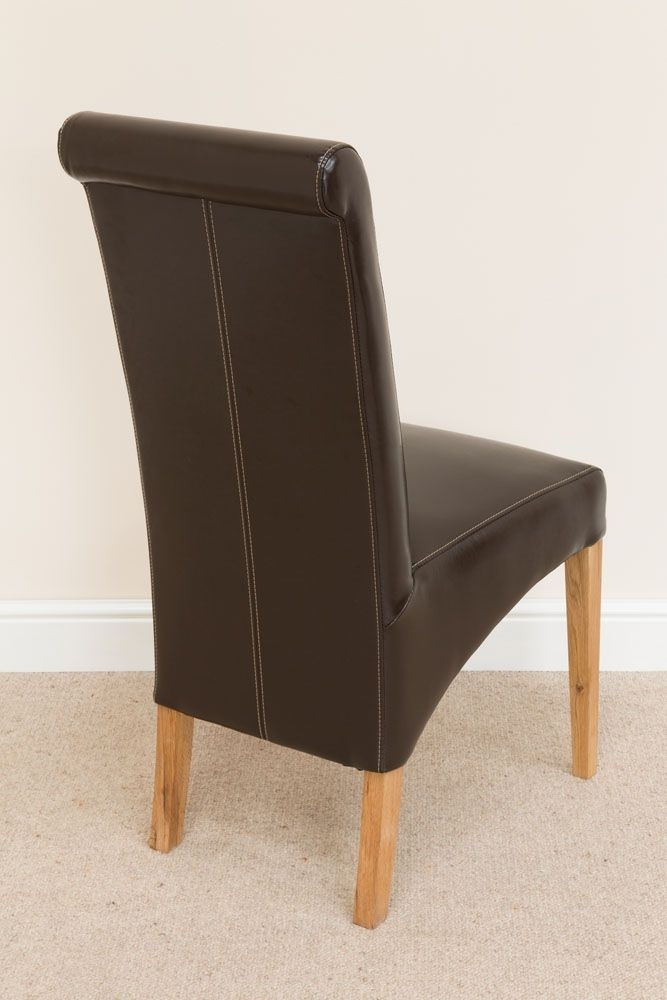 Tuscan Brown Leather Dining Room Chairs From Top Furniture Inside Dark Brown Leather Dining Chairs (Image 23 of 25)