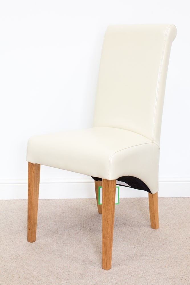 Tuscan Cream Leather Dining Chair From Topfurniture With Cream Leather Dining Chairs (Image 25 of 25)