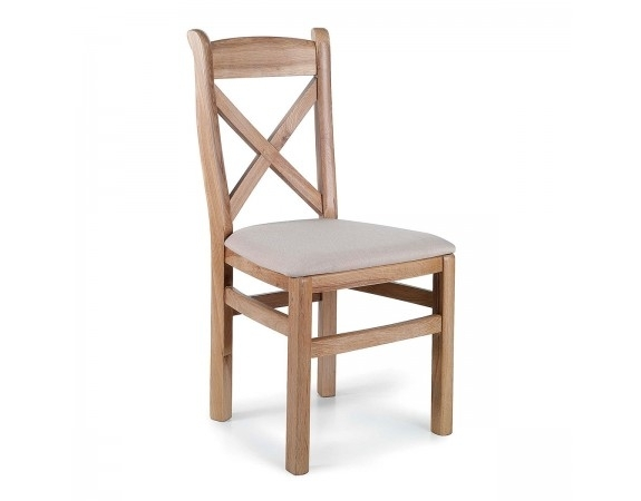 Tuscany Contemporary Oak Cross Back Dining Chair | Oak Dining Chairs Within Oak Dining Chairs (Image 23 of 25)