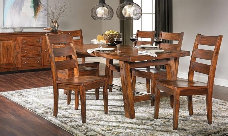 Tuscany Mahogany Dining Set | Haynes Furniture Within Mahogany Dining Table Sets (Image 24 of 25)