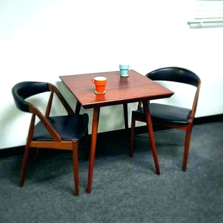 Two Person Dining Table Mid Century Inspired Bistro West Elm For Two Person Dining Tables (View 13 of 25)