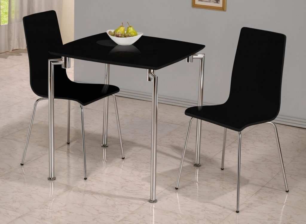 Two Seat Kitchen Table That Fits Perfectly In Confined Areas With Regard To Two Chair Dining Tables (Image 22 of 25)