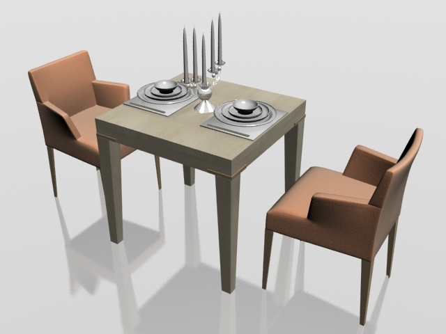Two Seater Dining Set 3D Model 3Dsmax Files Free Download – Modeling Within Two Seater Dining Tables (Image 19 of 25)