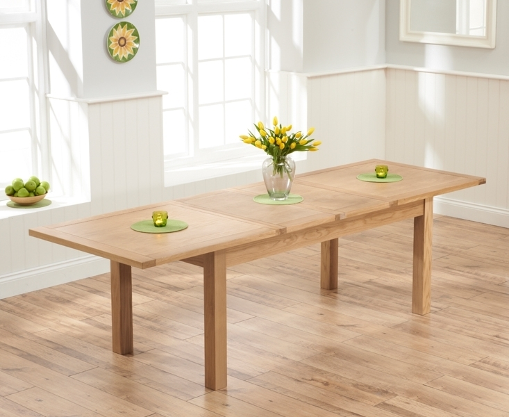 Udine Solid Oak 180Cm 270Cm Extending Dining Table Regarding 180Cm Dining Tables (View 13 of 25)