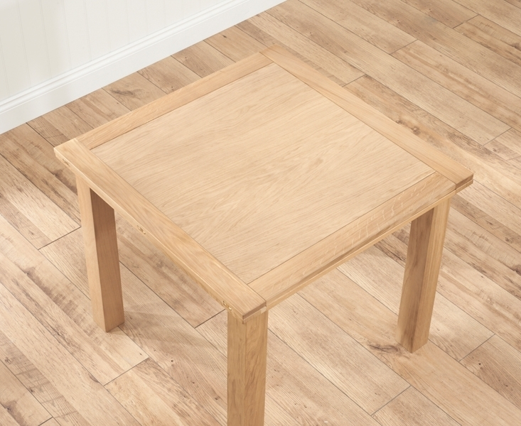 Udine Solid Oak 90Cm Flip Top Extending Dining Set With 4 Minerva Regarding Flip Top Oak Dining Tables (Image 21 of 25)