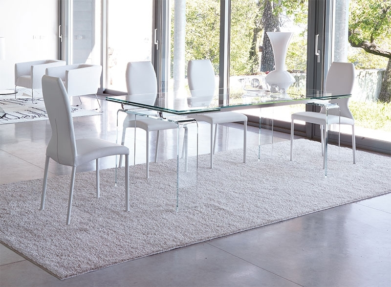Unico Contemporary Tecno Extending Dining Table Choice Of Colour And Intended For Extendable Glass Dining Tables (Image 25 of 25)