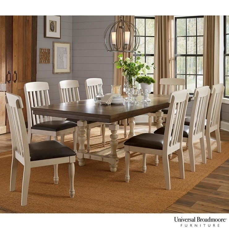 Universal Broadmoore Extending Dining Room Table + 8 Chairs | Costco Uk With Extending Dining Tables And 8 Chairs (Photo 13 of 25)
