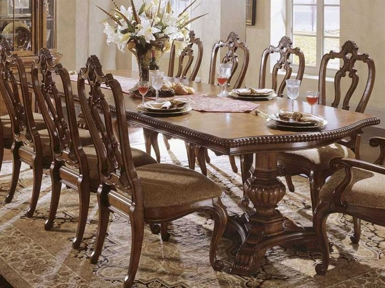 Universal Furniture Villa Cortina 130''l X 48''w Double Pedestal Inside Universal Dining Tables (Image 24 of 25)