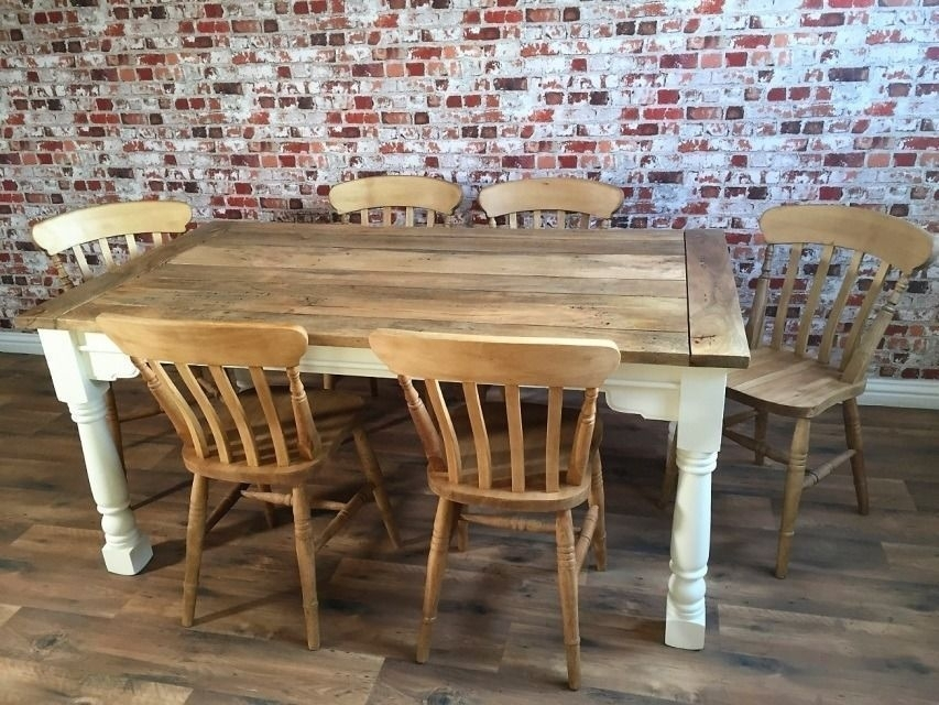 Up To Twelve Seater Rustic Farmhouse Extendable Dining Table Set With Extendable Dining Table Sets (View 19 of 25)