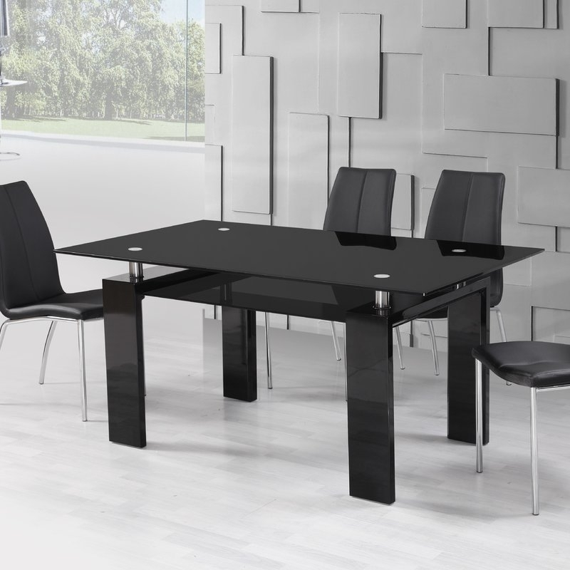 Urban Designs Metro Dining Table | Wayfair.co (Image 24 of 25)