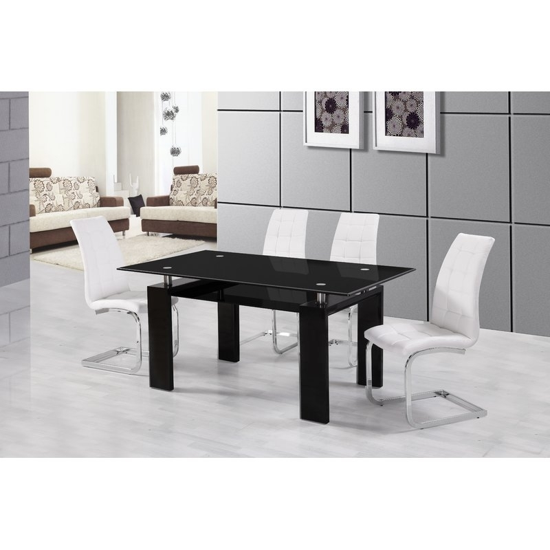 Urban Designs Metro Dining Table | Wayfair.co (Image 25 of 25)