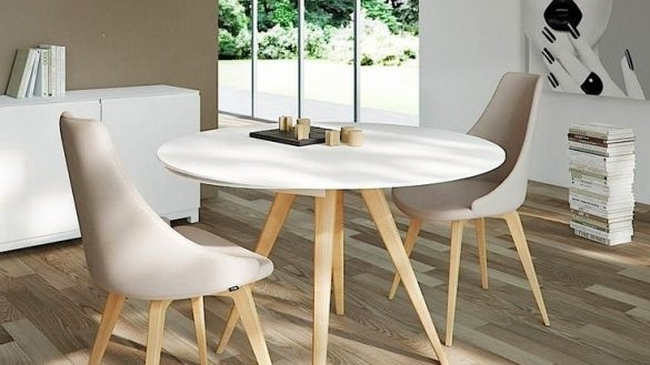 Use A Small Round Dining Table For Your Kitchen Dining – Home Decor In Small Dining Sets (View 7 of 25)