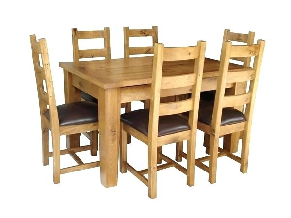 Used Oak Dining Room Sets Solid O Solid Oak Extending Dining Table Inside Oak Extending Dining Tables And 4 Chairs (Photo 12 of 25)