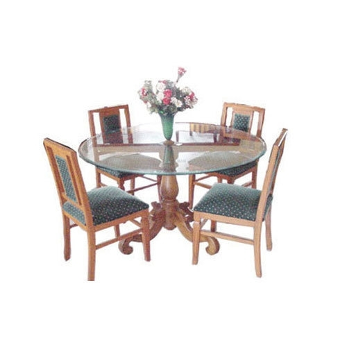 Usha Furniture Brown & Blue Imperial Dining Table With Four Chairs Pertaining To Imperial Dining Tables (View 12 of 25)