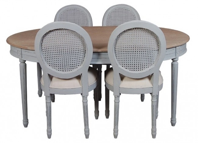 Val Dining Extendable Table & 4 Chairs With Extendable Dining Table And 4 Chairs (Image 24 of 25)