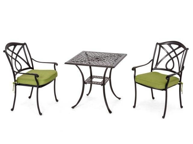Valencia 3 Pc. Bistro Set - Fortunoff Backyard Store inside Valencia 3 Piece Counter Sets With Bench