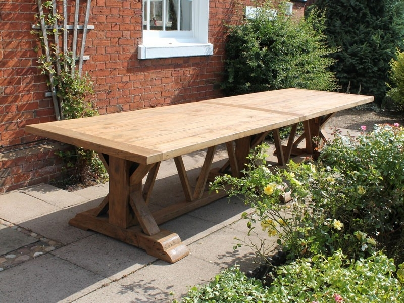 Valencia 4M Dining Table | Chunky Reclaimed Teak With Valencia 60 Inch Round Dining Tables (Image 20 of 25)
