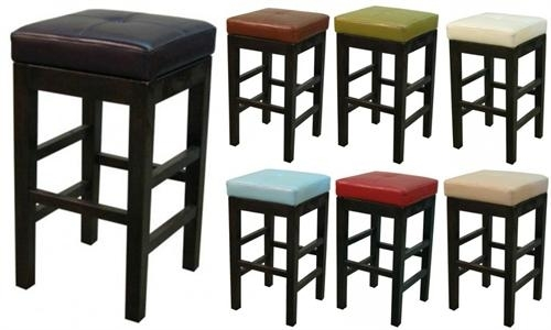 Valencia Square Leather Bar Stool Regarding Valencia 4 Piece Counter Sets With Bench & Counterstool (View 3 of 25)