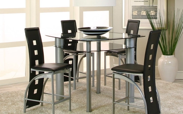 Valencia Table + 4 Chairs 92780 Cramco Counter Height Dining Sets Regarding Valencia 4 Piece Counter Sets With Bench & Counterstool (Image 25 of 25)