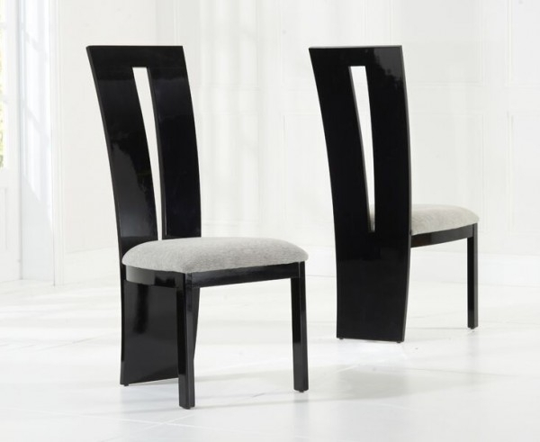 Valerie Black Gloss Dining Chair Inside Black High Gloss Dining Chairs (Image 23 of 25)