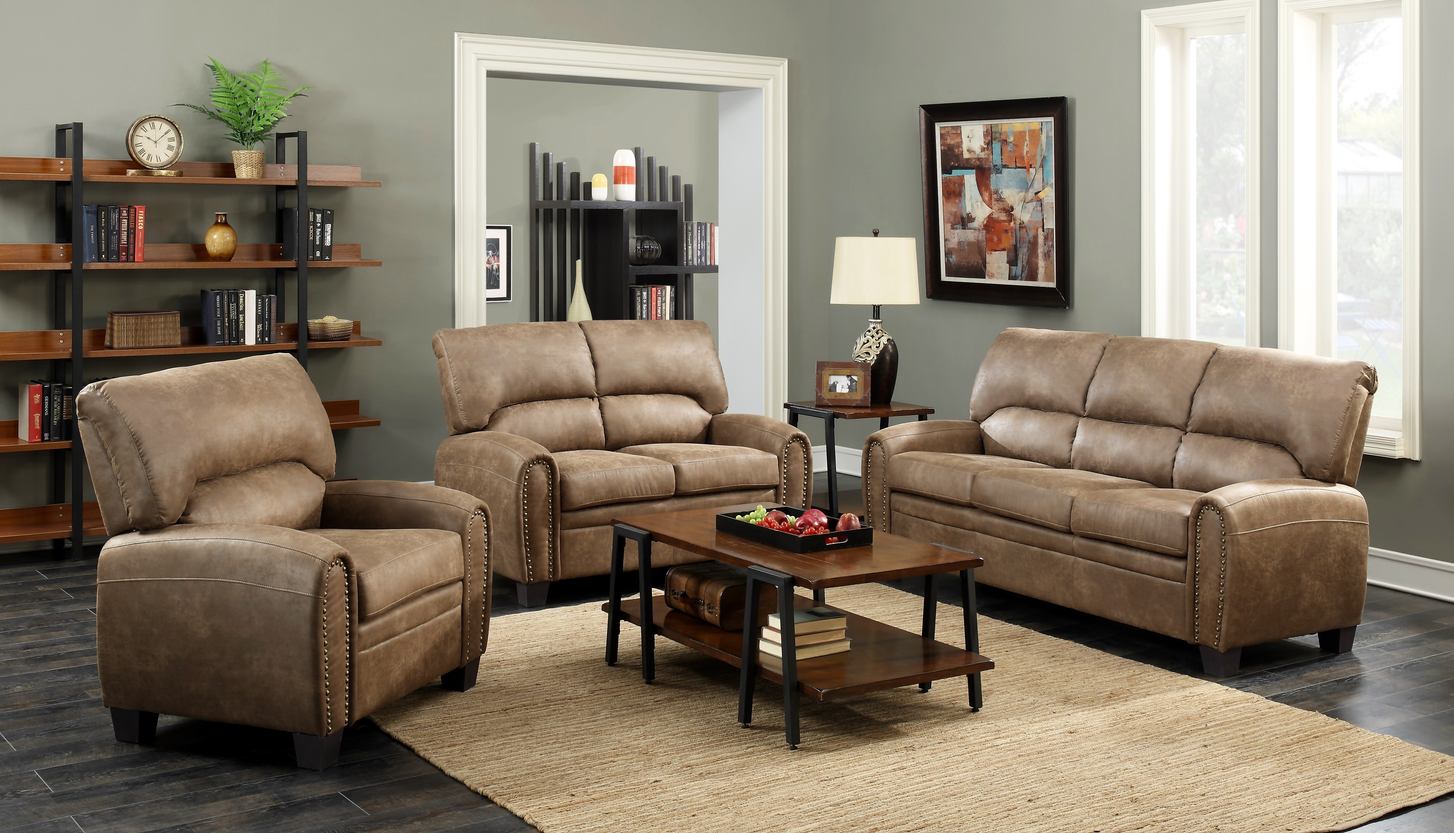 Vcf Sofa Chaise | Baci Living Room For Mcdade Graphite 2 Piece Sectionals With Raf Chaise (Image 21 of 25)