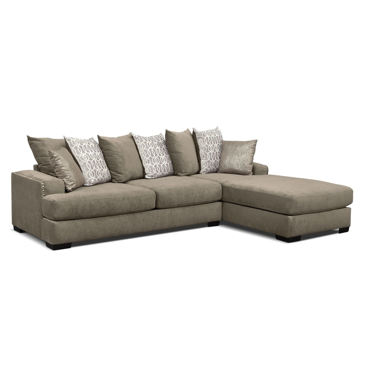 Vcf Sofa Chaise | Baci Living Room pertaining to Mcdade Graphite 2 Piece Sectionals With Raf Chaise