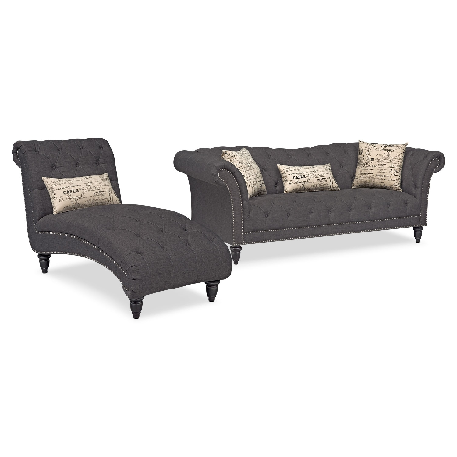 Vcf Sofa Chaise | Baci Living Room Within Mcdade Graphite 2 Piece Sectionals With Laf Chaise (View 16 of 25)