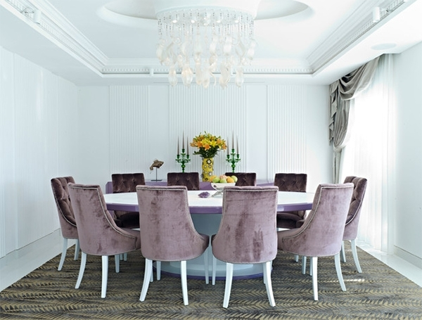 Velvet Dining Chairs In 20 Sophisticated Dining Rooms | Home Design For Velvet Dining Chairs (Image 24 of 25)