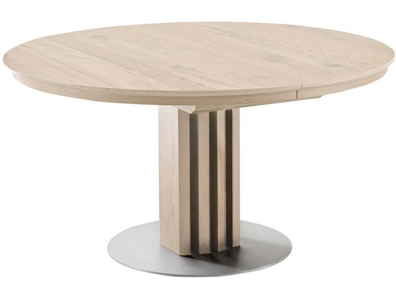 Venjakob Alfio 120Cm Round Extending Dining Table – Lee Longlands Inside Extendable Dining Tables (Image 24 of 25)