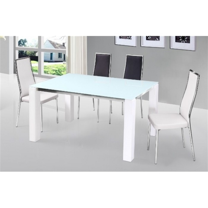 Venture Black High Gloss Dining Set + 4 Chairs Throughout White High Gloss Dining Tables And 4 Chairs (Image 24 of 25)