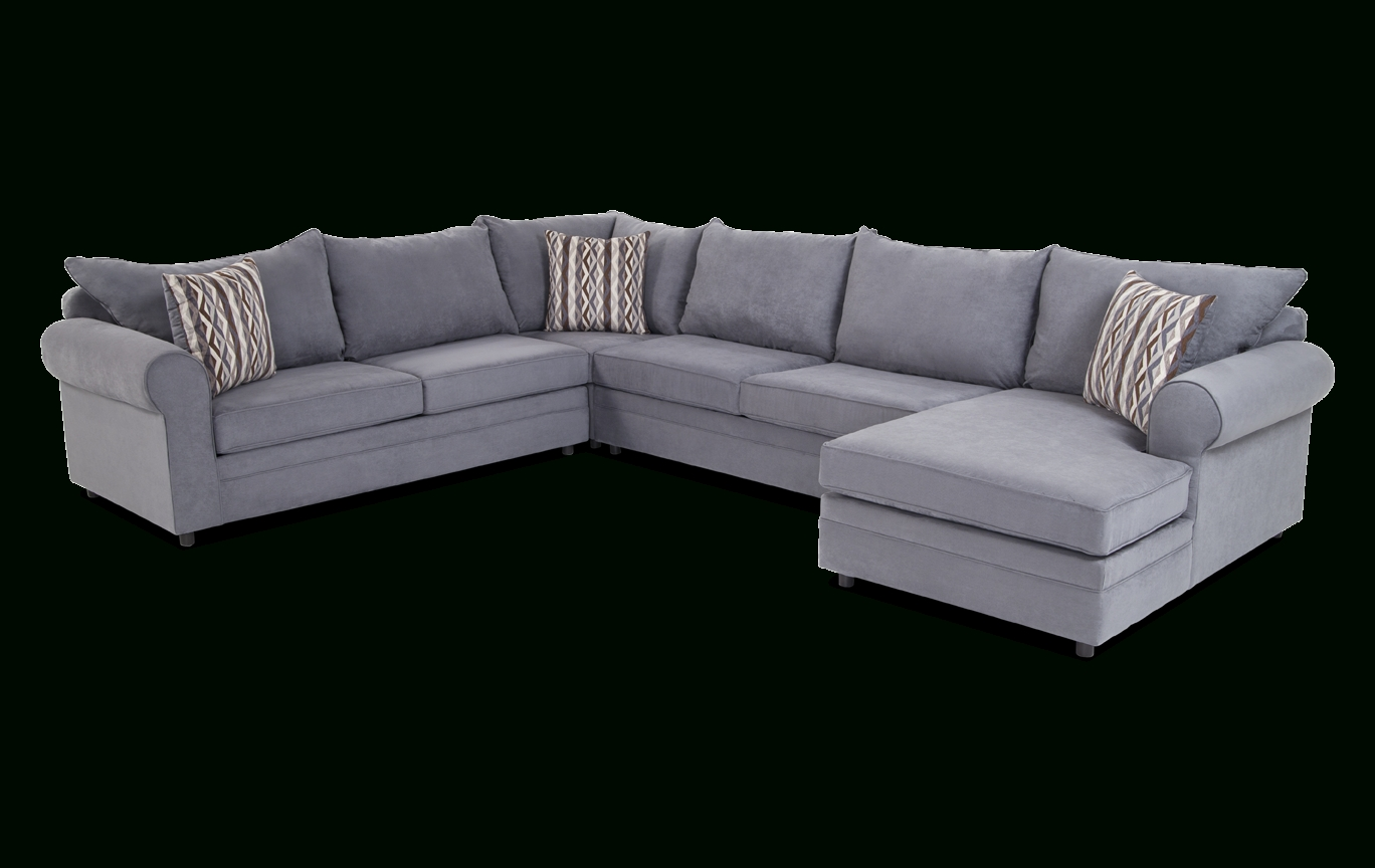 Venus 4 Piece Left Arm Facing Sectional | Bob's Discount Furniture In Aquarius Light Grey 2 Piece Sectionals With Laf Chaise (Image 25 of 25)