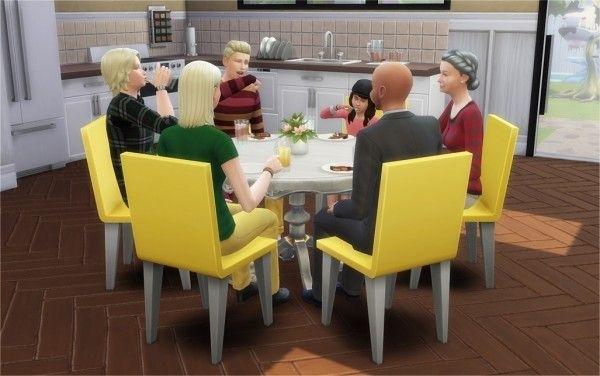 Veranka: 6 Seat Round Dining Tables • Sims 4 Downloads | Sims 4 With Regard To 6 Seat Round Dining Tables (Image 25 of 25)