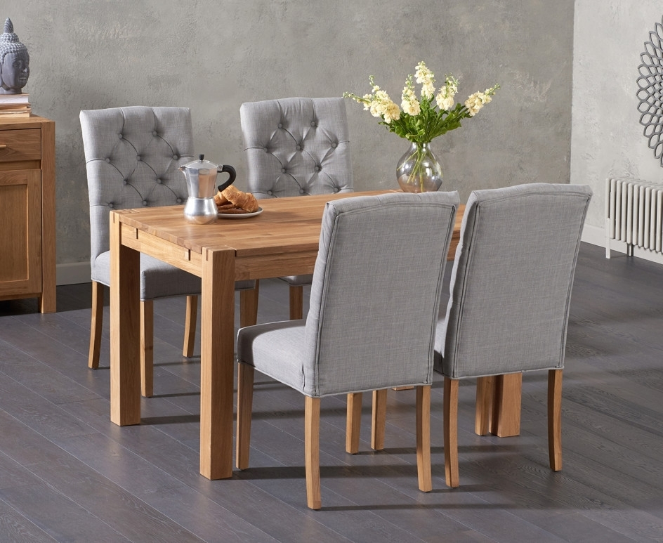 Verona 120Cm Solid Oak Dining Table With Candice Chairs | The Great Intended For Candice Ii 6 Piece Extension Rectangle Dining Sets (Image 23 of 25)
