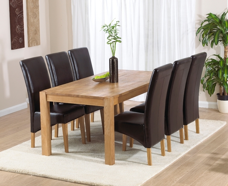 Verona 180Cm Solid Oak Dining Table With Venezia Chairs Intended For Verona Dining Tables (View 5 of 25)