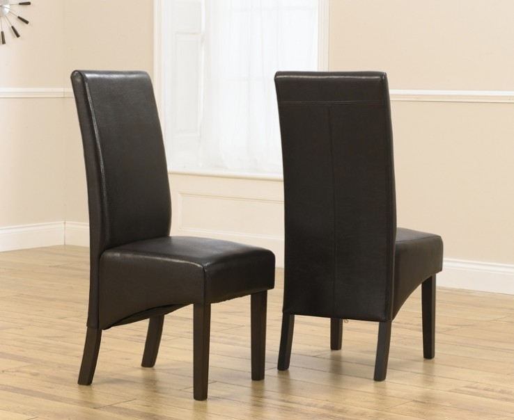 Verona Dark Brown Faux Leather Dining Chair With Dark Brown Legs (A Regarding Dark Brown Leather Dining Chairs (Image 24 of 25)