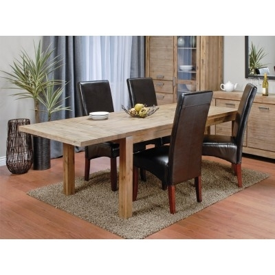 Verona Table + 4 Orbe Chairs | Dining Set With Verona Dining Tables (Photo 11 of 25)