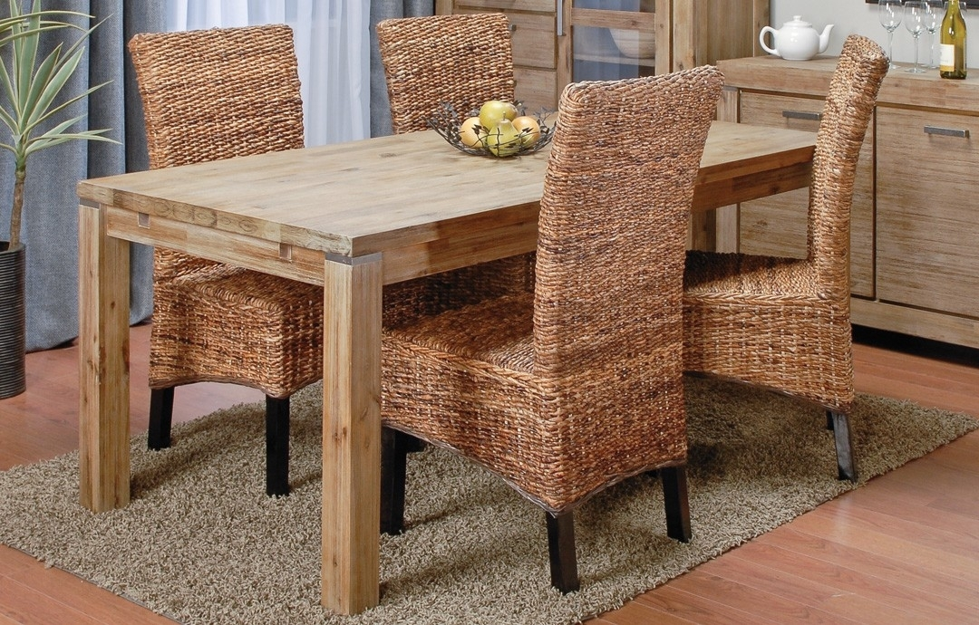 Verona Table + 4 Paolo Banana Chairs | Dining Set throughout Rio Dining Tables