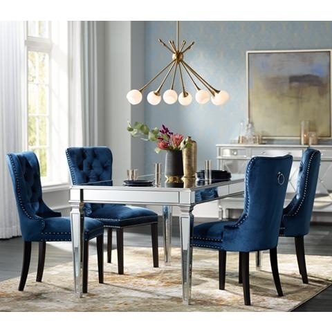 Veronica Silver And Mirror Dining Table – Goodglance Regarding Mirrored Dining Tables (View 14 of 25)