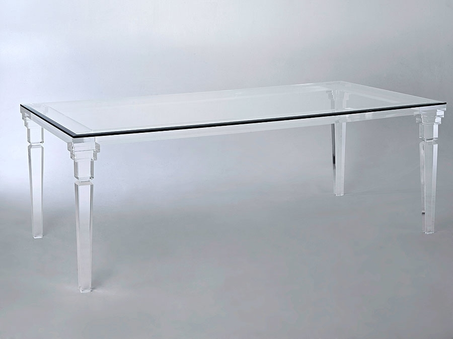 Versailles Acrylic Dining Table | with Acrylic Dining Tables
