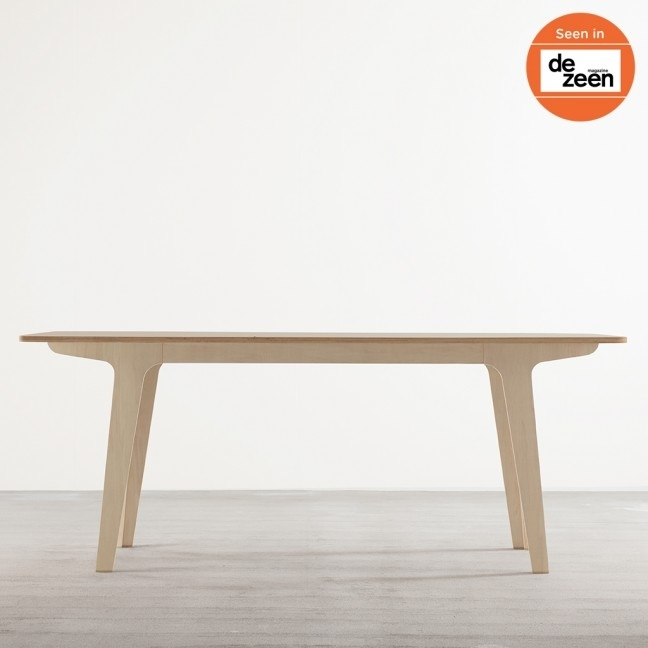 Victor Dining Table In Ply + White - Tables - Joined + Jointed throughout Victor Dining Tables