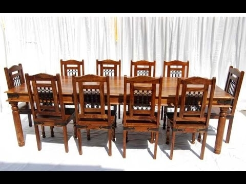 Victoria Jali 8 Seater Dining Table. Crafted In Sheesham Wood pertaining to Sheesham Dining Tables 8 Chairs