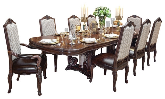 Victoria Palace 7 Piece Dining Table Set – Victorian – Dining Sets Within Dining Sets (Image 25 of 25)